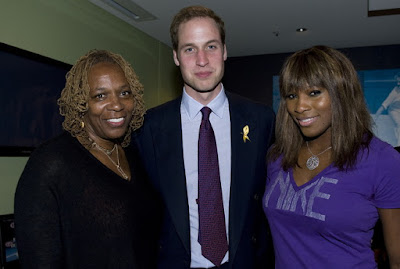 Black Tennis Pro's Prince William, Serena Williams and Oracene Price at the Australian Open