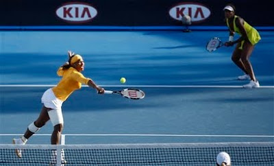 Black Tennis Pro's Serena and Venus Williams Doubles 2010 Australian Open