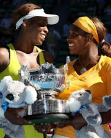 Black Tennis Pro's Venus and Serena Williams 2010 Australian Open Doubles Title