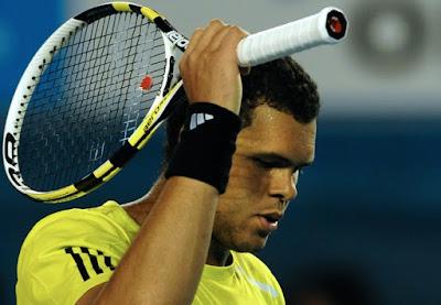 Black Tennis Pro's Jo-Wilfried Tsonga vs Roger Federer Semifinal 2010 Australian Open