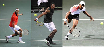 Black Tennis Pro's Josselin Ouanna, Gael Monfils and Raven Klaasen South African Open