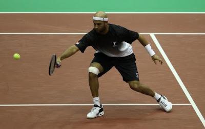 Black Tennis Pro's James Blake vs. Marcos Baghdatis 2010 ABN AMRO World Tennis Tournament