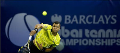 Black Tennis Pro's Jo-Wilfried Tsonga vs Ivan Ljubicic in Dubai
