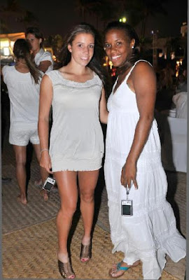 Black Tennis Pro's Mashona Washington in Acapulco at Fiesta Blanco