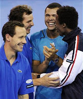 Black Tennis Pro's Jo-Wilfried Tsonga and Gael Monfils 2010 Davis Cup