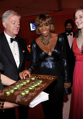 Black Tennis Pro's Serena Williams at 2010 Oscars with Godiva