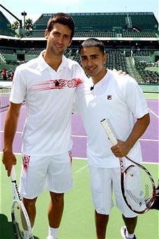 Black Tennis Pro's Sony Ericsson Open Glam.Set.Match - Novak Djokovic and Jay Sean