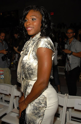 Black Tennis Pro's Serena Williams at Mercedes-Benz Fashion Week