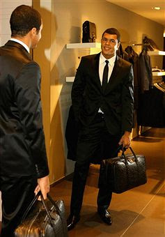 Black Tennis Pro's Jo-Wilfried Tsonga In Hugo Boss