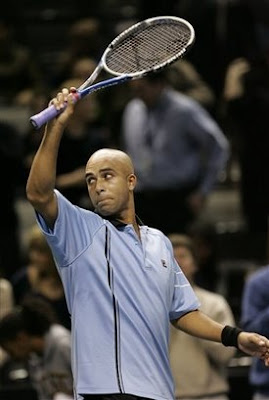 Black Tennis Pro's James Blake And Florent Serra SAP Open