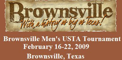 Black Tennis Pro's Brownsville Men's Tournament Header