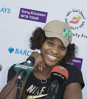 Black Tennis Pro's Serena Williams Barclays Dubai Tennis Tournament