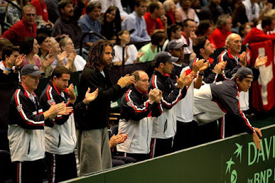 Black Tennis Pro's Bob and Mike Bryan 2009 Davis Cup