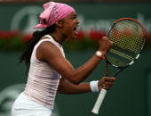 Black Tennis Pros Angela Haynes BNP Paribas Open