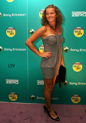 Black Tennis Pro's Dinara Safina Sony Ericsson Open Kick Off Party