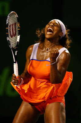 Black Tennis Pro's Serena Williams Sony Ericsson Open Semifinal