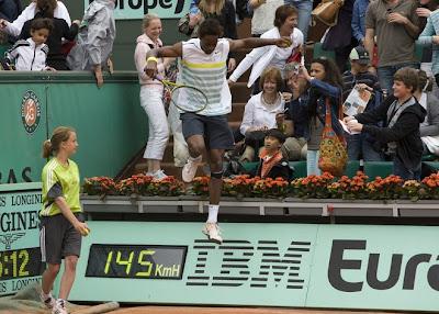 Black Tennis Pro's Gael Monfils Benny Berthet Day