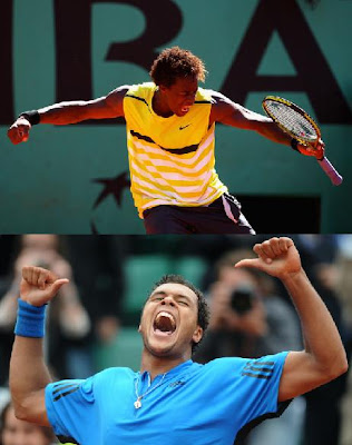 Black Tennis Pro's Gael Monfils and Jo-Wilfried Tsonga 2009 French Open