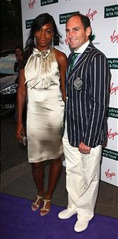 Black Tennis Pro's Venus Williams And Larry Scott Attend 2009 WTA Tour Pre-Wimbledon Party