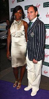 Black Tennis Pro's Venus Williams And Larry Scott Attend 2009 WTA Tour Pre-Wimbledon Party