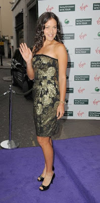 Black Tennis Pro's Ana Ivanovic Attend 2009 Pre-Wimbledon Party