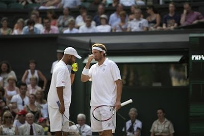 Black Tennis Pro's James Blake and Mardy Fish Wimbledon Doubles
