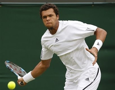 Black Tennis Pro's Jo-Wilfried Tsonga 2009 Wimbledon Day 1