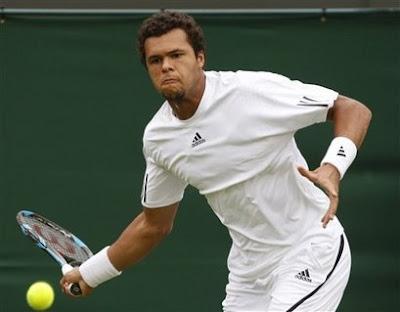 Black Tennis Pro's Jo-Wilfried Tsonga 2009 Wimbledon Day 1