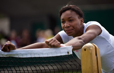 Black Tennis Pro's Venus Williams 2009 Wimbledon Practice Day 2