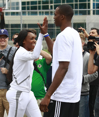 Black Tennis Pro's Venus Williams and Dwight Howard EA Sports King Of The Court - Canada