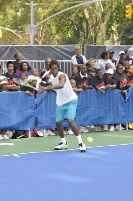 Black Tennis Pro's Gael Monfils Nike Tennis Challenge 2009