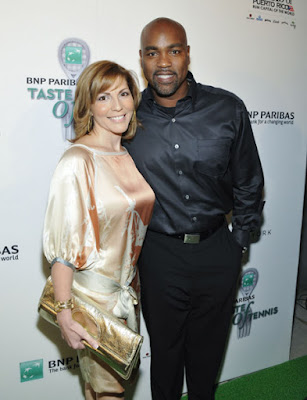 Black Tennis Pro's BNP Paribas Taste Of Tennis Carlos Delgado and wife Betsey