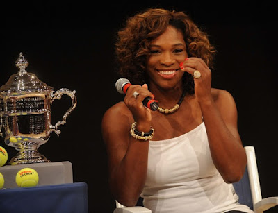 Black Tennis Pro's Serena Williams at 2009 U.S. Open Draw Presentatio