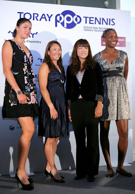 Black Tennis Pro's Venus Williams, Ai Sugiyama, Dinara Safina and Ayumi Morita Pan Pacific Open Press Conference