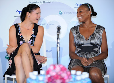 Black Tennis Pro's Venus Williams and Dinara Safina Pan Pacific Open Press Conference