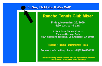 Black Tennis Pro's Rancho Tennis Mixer