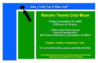 Black Tennis Pro's Rancho Tennis Mixer