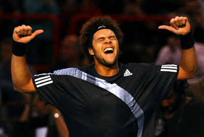 Black Tennis Pro's Jo-Wilfried Tsonga BNP Paribas Masters
