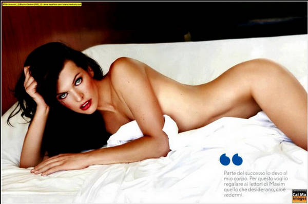 Milla Jovovich Maxim Italy October 20093