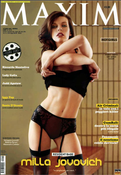 Milla Jovovich Maxim Italy October 20092