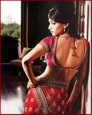 Sonam Kapoor bare back