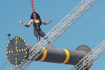 Priyanka dangerous stunt on KKK3