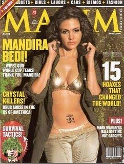Mandira Bedi  cleavage