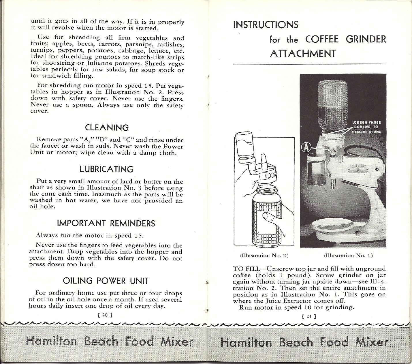 I ♥ Aldi: Hamilton Beach Model E Food Mixer Instruction Manual