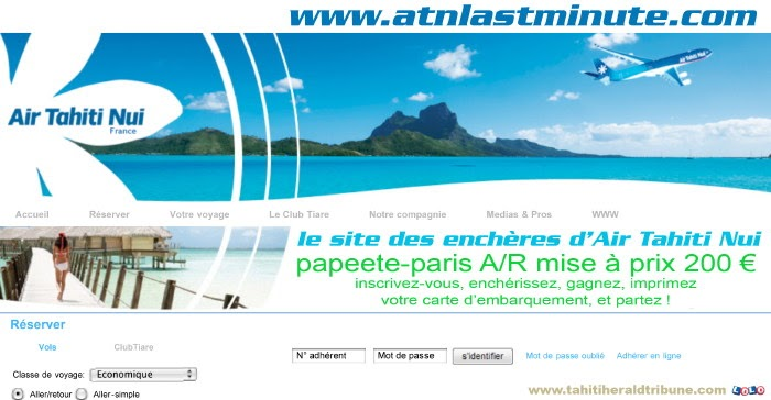 Assez TAHITI HERALD TRIBUNE: Enfin le site web des vols Air Tahiti  RA36