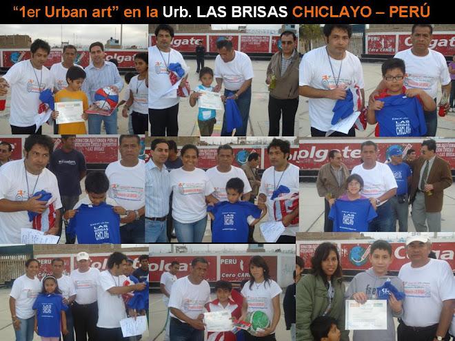 """""""1er Urban art – Arte Urbano"""" en la Urb. LAS BRISAS CHICLAYO - PERÚ - 2009"""