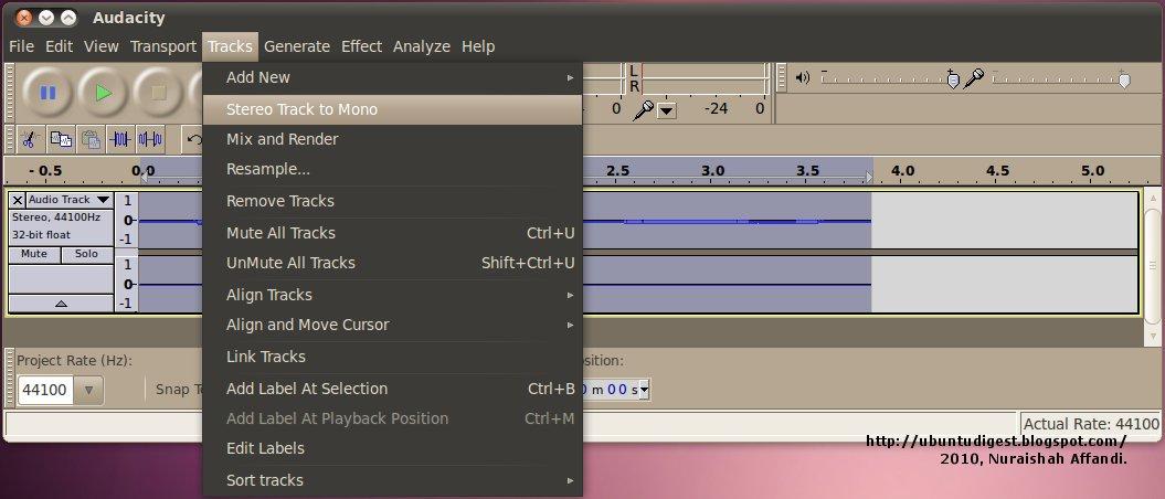 Как сделать стерео на audacity 93