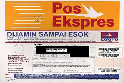 Pos Ekspres Sample envelope cover