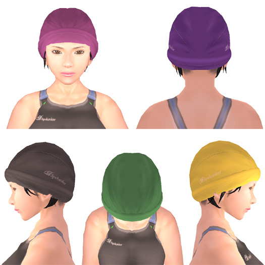 おまけの水泳帽5色セット