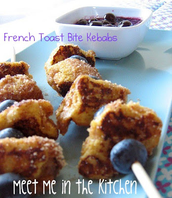 Meet Me in the Kitchen: French Toast Bite Kebabs with Blueberry Sauce